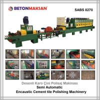 Desenli Karo Çini Polisaj Makinası Encaustic Handmade Cement Tile Polishing Machinery